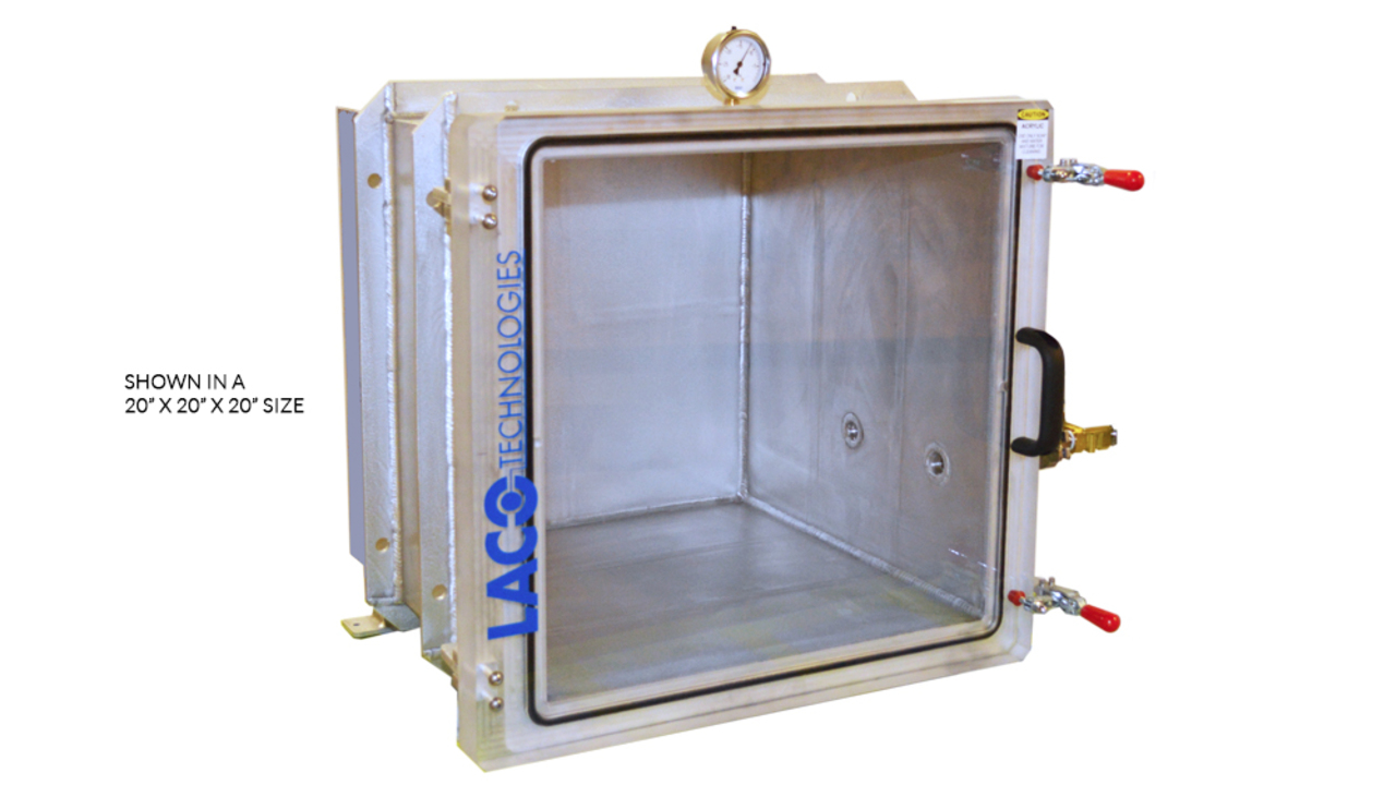 ... vacuum chamber features a cube design with aluminum or stainless steel construction. The 24  x 24  x 24  aluminum body with a clear acrylic door allows ...  sc 1 st  LACO Technologies & Cube Vacuum Chambers | Vacuum Chambers | LACO Technologies