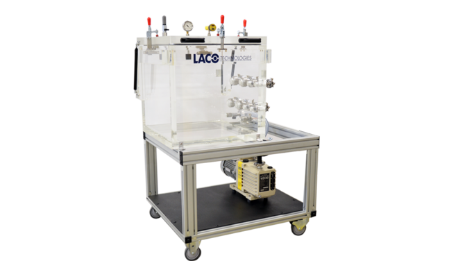 Clear Product Testing Vacuum System