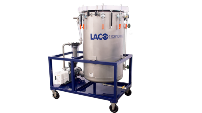 Custom Vacuum Degassing System on Cart
