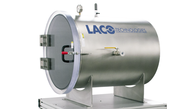 Custom industrial vacuum chamber with cart