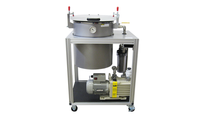 Vacuum Degassing System for NASA Epoxy Parts