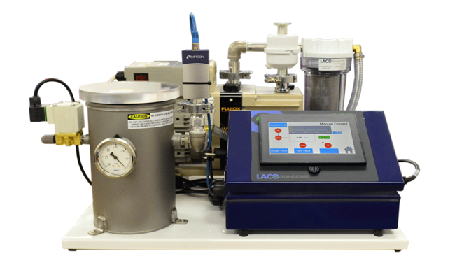 Tabletop vacuum degassing system