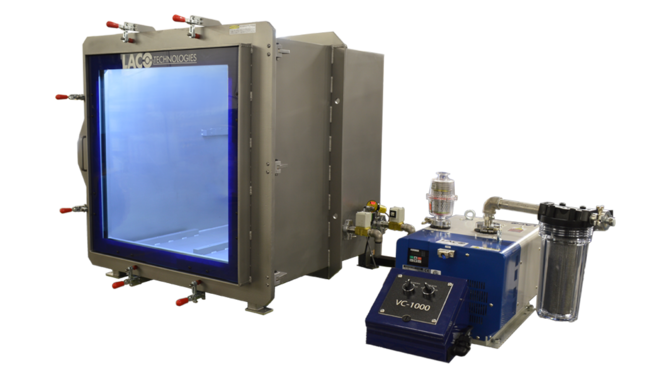 Product Testing Vacuum System with Cube Chamber