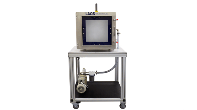 Vacuum system for aerospace component testing with glass door