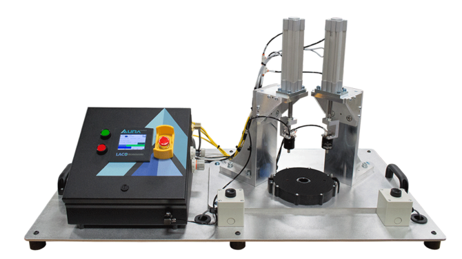 Pressure decay leak test system for security hardware
