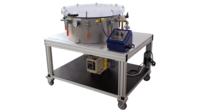Industrial degassing and curing system