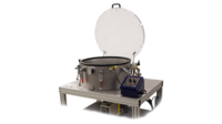 Industrial degassing system w/open lid