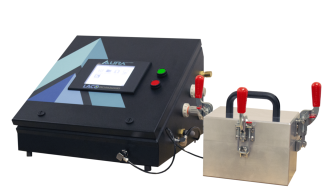 Pressure decay leak test system for medical components