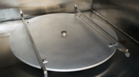 Turntable for vacuum coating and drying chamber