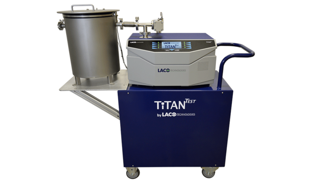 TITANTEST leak test system with custom leak test chamber
