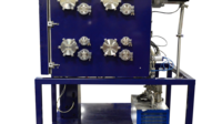 High Vacuum Bake-Out System for Satellite Components
