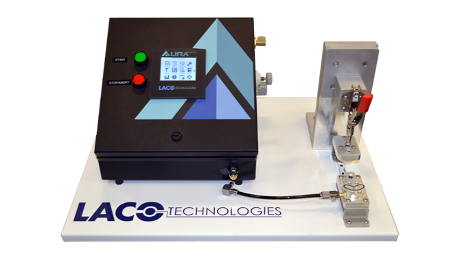 Pressure Decay Leak Test System with custom tooling