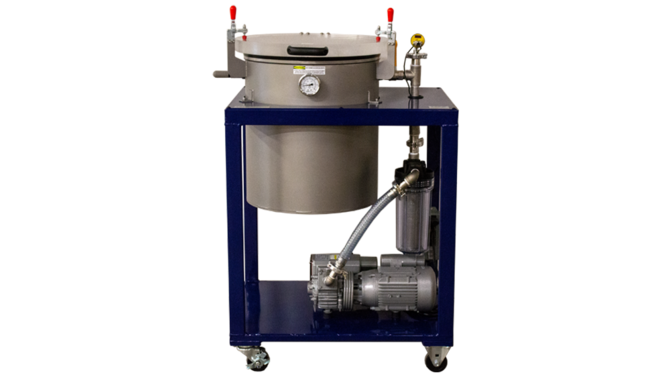 "18"" X 20"" Cart Degassing System (One Stage / 15 CFM)"
